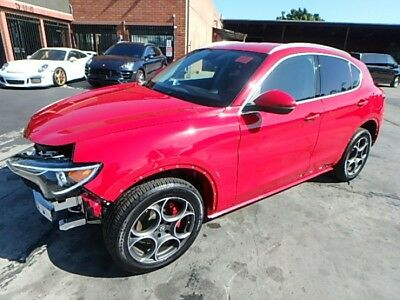 2018 Alfa Romeo Other Stelvio Damaged Wrecked Repairable 2018 Alfa Romeo Stelvio Damaged Repairable! Low Miles! Great Color! Wont Last!!