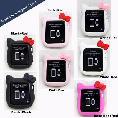 For Apple Watch Series 1/2/3 Cute Hello Kitty Apple iWatch Cover Case 38mm/42mm