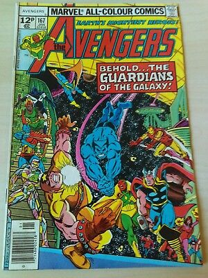 The Avengers #167 Guardians of the Galaxy Marvel 1978