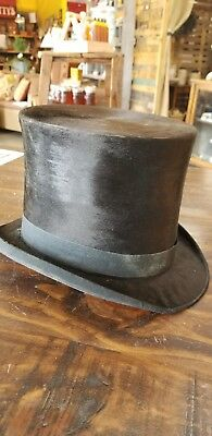 JOHNSON & Co LONDON ANTIQUE VICTORIAN  Top Hat Hatters to the Queen