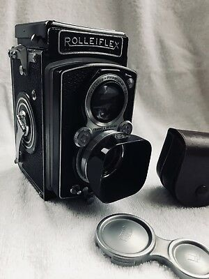 Rolleiflex Carl Zeiss Tessa 1:3.5 f=7.5cm Shutter 1/500th Back Plate In German