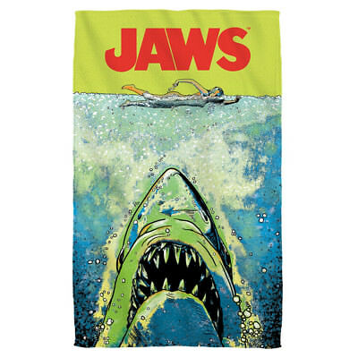 Jaws Movie Poster Shark Colorful ATTACK Lightweight Beach Towel