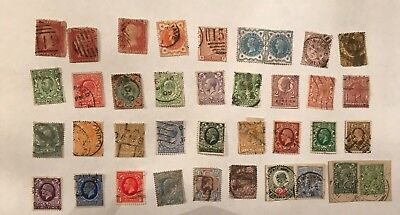 Stamps GB UK QV KEVII KGV KEVIII KGVI QEII 160 different Stamps