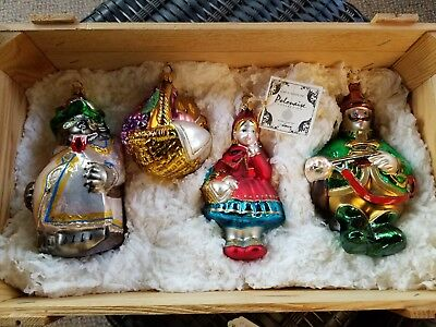 POLONAISE Little Red Riding Hood CHRISTMAS ORNAMENTS 4 IN CRATE NEW