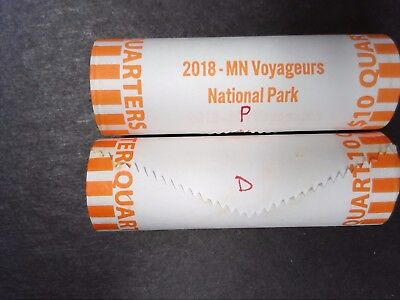 2018 P & D VOYAGEURS NATIONAL PARK ATB - BU BANK WRAPPED QUARTER ROLL - 2 Rolls