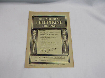 The American Telephone Journal  Volume 7 New York - February 7, 1903 - Chicago