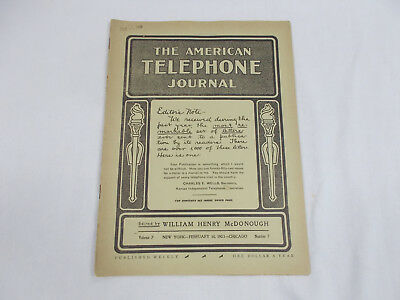 The American Telephone Journal  Volume 7 New York - February 14, 1903 - Chicago