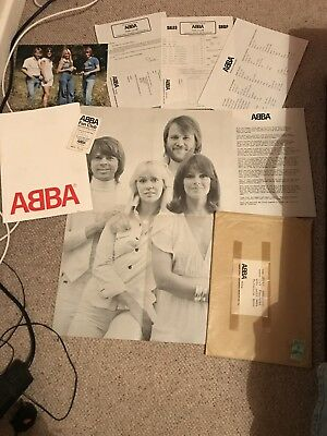 Abba Vintage Fan Club Pack Poster Picture Membership Card Letters 1970's