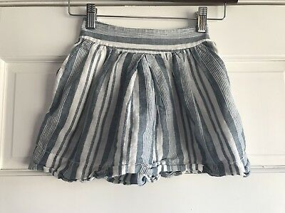 Crewcuts Blue Striped Skirt Girls Size 4/5