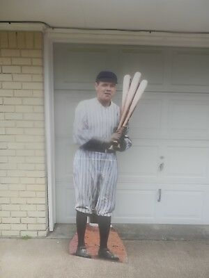 "BABE RUTH Standing Cardboard Life Size Cutout Display 69""x21"""