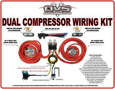 Dual Compressor Wiring Kit By Avs/free Shipping- Avs-Wk-2Comp