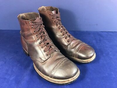 WWII US Army Service Shoes Boots, Composition Soles, Type II, Size 10D Original