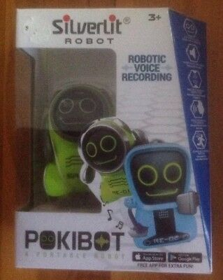 SilverLit iConnect Robot Pokibot Robotic Voice Recording 3+ Portable Robot New