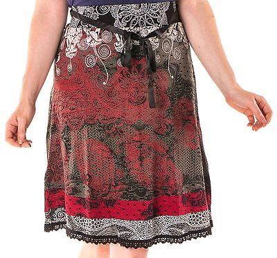 119aab6073 Beautiful Desigual Romin Black and Red Skirt Size L