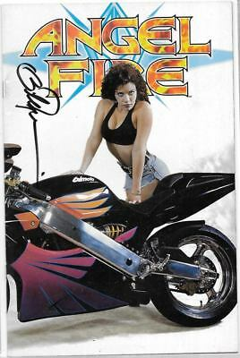 Angel Fire 1 Photo Variant Signed By Billy Tucci Crusade Comics ( Shi )