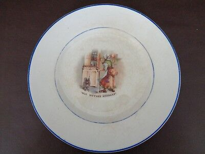 """Vintage W.S. George Derwood Child's Plate """"Old Mother Hubbard"""" (Cat.#12A051)"""