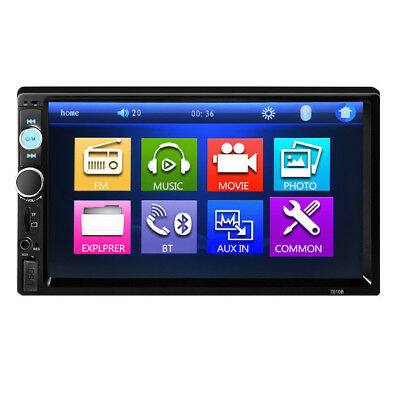 7'' Double 2DIN Car In-Dash Bluetooth Stereo Radio MP5 MP3 Player FM USB/AUX/TF