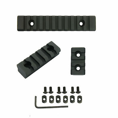 "M-LOK  Picatinny / Weaver Rail Section Aluminum 2"" 3"" 5"" 3 Slot 5 Slot 11 Slot"
