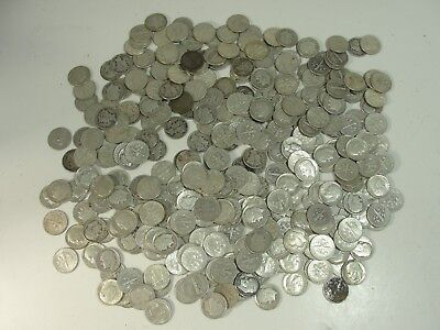 Lot of 334 Silver U.S. Dimes Roosevelt and Mercury Face $33.40 Silver coins