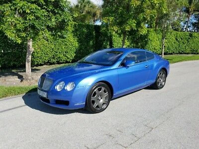 2005 Bentley Continental GT Coupe 2005 Bentley Continental GT Coupe Neptune Blue Over Magnolia. Loaded.