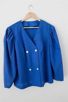 Vintage One Of a Kind Womens Blazer Royal Blue