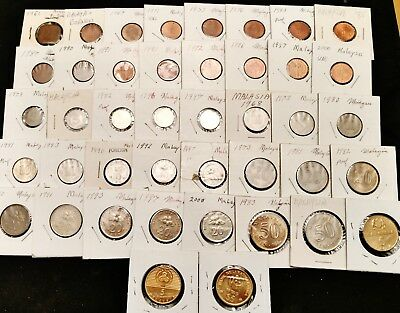 42 Malaysia Coins, 1960s to Modern - Higher Grades & Proof Coins Included