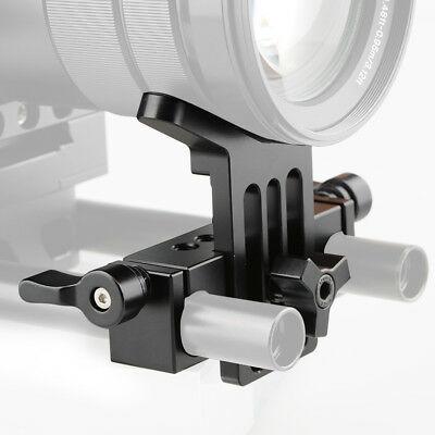 US Stock CAMVATE Lens Support 15mm Rod Clamp Rail Block M5 Hole for DSLR