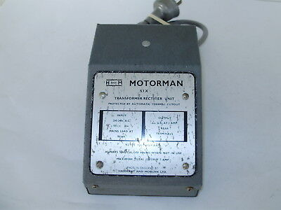 Hammant & Morgan transformer Rectifier 6V.1A.Power supply only. OO scale. No box