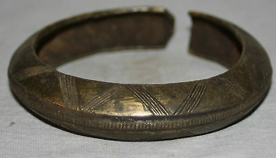 Antique African Tribal Baule Currency Antique Very Ornate Cast Bronze Anklet