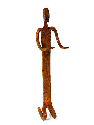 Extremely Rare African Tribal Antique Dogon Hand Forged Iron Figure #4
