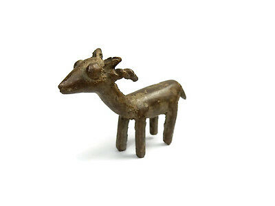 Rare Antique African Bronze Ashanti Gold Weight - Gazelle 2