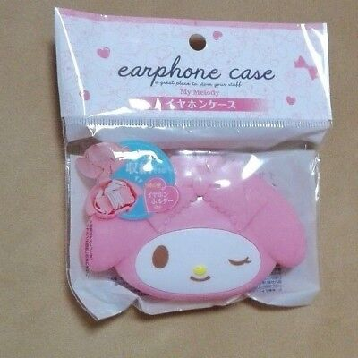 Sanrio My Melody Earphone case with Earphone holder Brand New Japan F/S