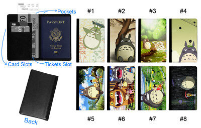 Totoro Animation Cartoon Leather Travel Wallet Passport Holder Gift