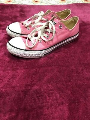 Pre-Owned Girls Pink Converse All-Star Shoes Size 3