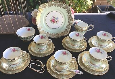Vintage English China Paragon - double Warrant-   Tea Set