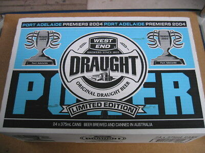 West End Draught - Port Adelaide Premiers 2004 Limited Edition -unopened box.