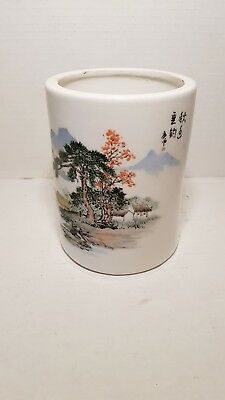 Chinese Ceramic Cup Pen Holder