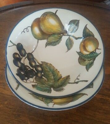 2 Autumn Fayre Staffordshire Tableware Breakfast Bowls Dessert Bowls
