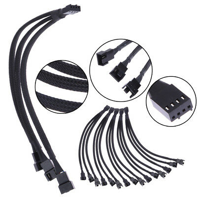 Fan 4pin To 3 x 4pin/3pin PWM Extender Cable 4pin To 3 Ways Y Splitter Cable