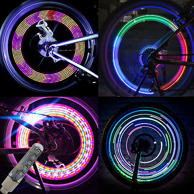 2x Bike Bicycle Cycling Wheel Spoke Wire Tyre Bright LED Flash Light Lamp