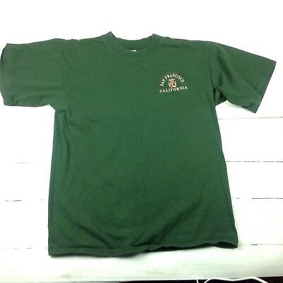 Vintage 90s San Francisco Trolley Car T Shirt Mens Large Heavy Weight Green