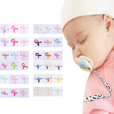 Baby Newborn Kid Anti-lost Clip Holder Dummy Pacifier Soother Nipple Strap Chain