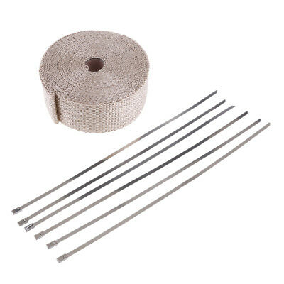 Exhaust Pipe Heat Wrap 10m*5cm*2mm for Motorcycle Car Autos Header