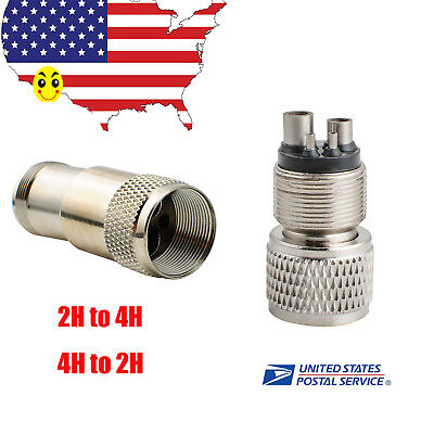 USA 4 Hole/2 Hole Dental High Speed Handpiece Tubing Hose Adapter Changer