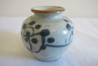 Antique Chinese Blue & White Vase w. Floral Detail – Looks Early