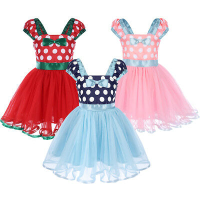 Girls Minnie Mouse Princess Fancy Dress up Birthday Cartoon Outfit for Baby Kids