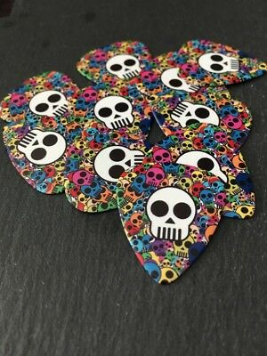 UK SELLER 10 X Skull Guitar Picks! LOOSE Guitar Plectrums. Bundle Job Lot.