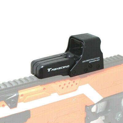 Tactical Top Scope Sight Attachment Black for Worker Rail Mount Nerf Modify Toy