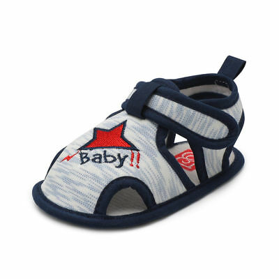 Baby Infant Kid Boy Girl Soft Sole Crib Toddler Summer Sandals Shoes 0-18M t0710