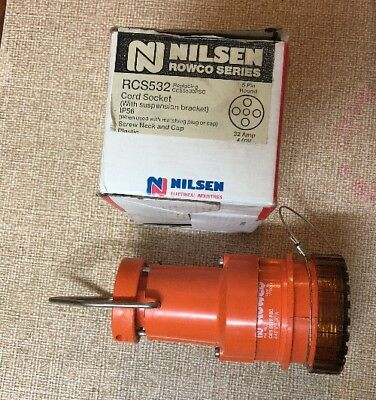 5 Pin 32Amp 3 Phase Power Pendant Outlet 440V NILSEN RCS532 Rowco Series
